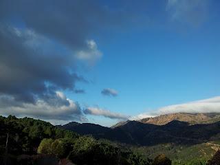 vue sur le col de Tana depuis Aullène en Alta Rocca