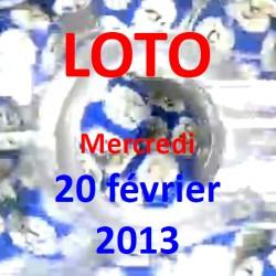 Résultat du LOTO - tirage du mercredi 20 février 2013