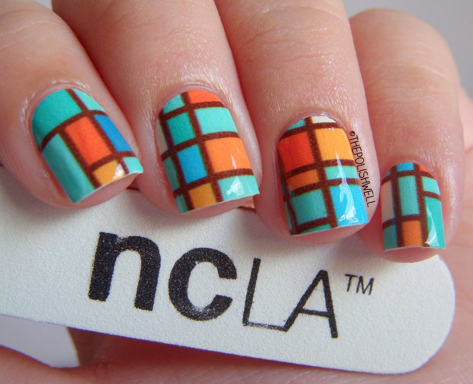 The Polish Well: NCLA Nail Wraps: Aqua