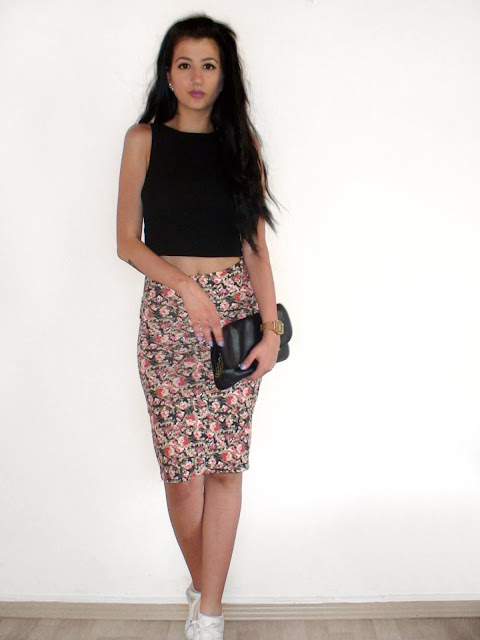 pencil midi skirt outfit ideas pinterest