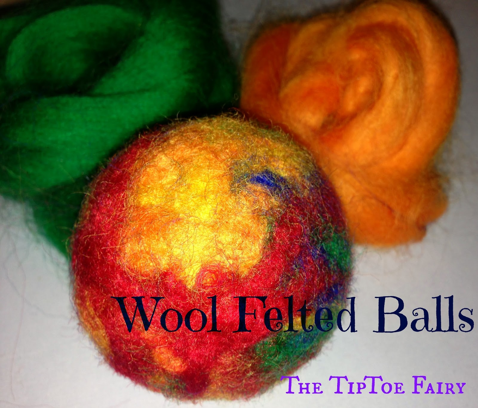 How To Make Wool Felted Balls Pincushions The Tiptoe Fairy