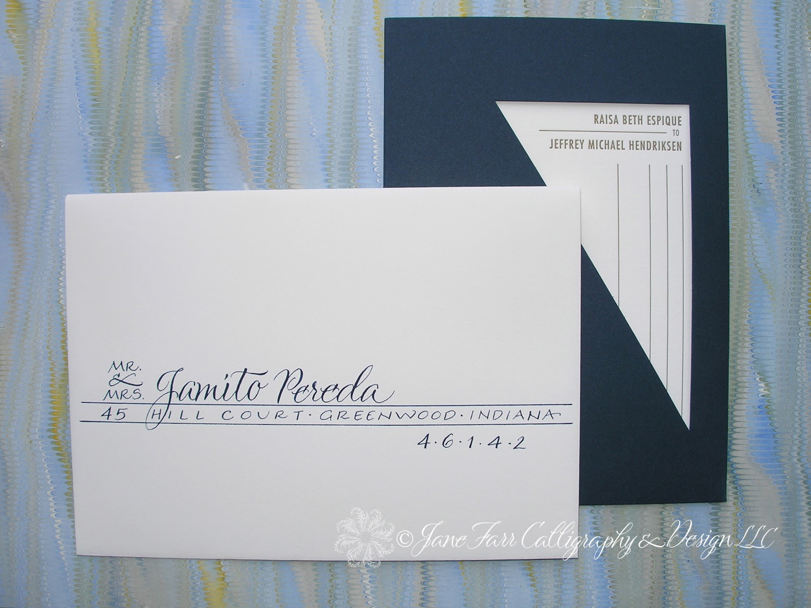 Wedding Calligraphy By Jane Farr New York City Wedding