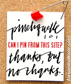 Please do not pin my images on Pinterest.