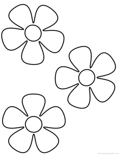 Flor 5 petalos para colorear - Imagui