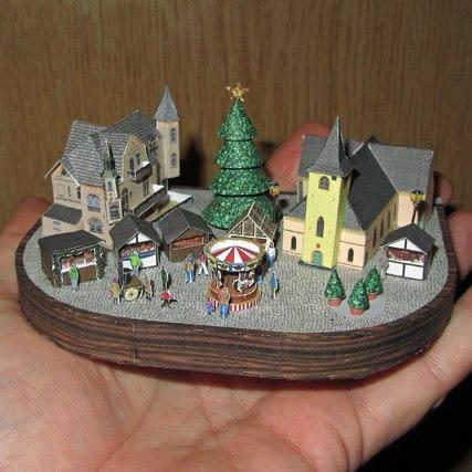 Tiny papercraft christmas village - The tiny house village a miniature settlement ...