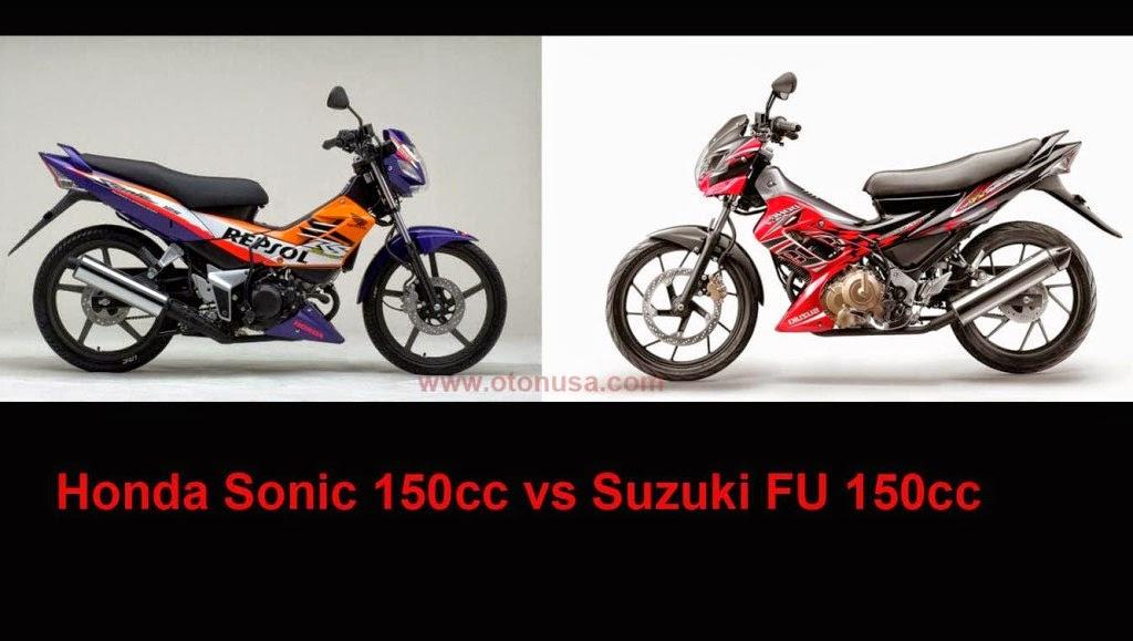 Honda Sonic 150cc vs Suzuki FU 150cc
