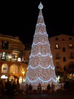 Christmas trees are traditionally lit up on December 8 in Italy