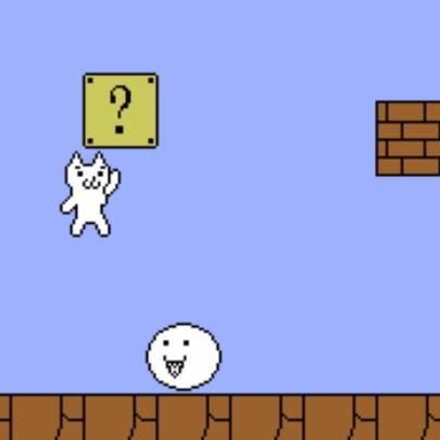 5 jogos mais irritantes: CAT MARIO.