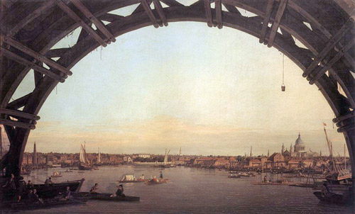 Canaletto - London: Seen Through an Arch of Westminster Bridge 1747