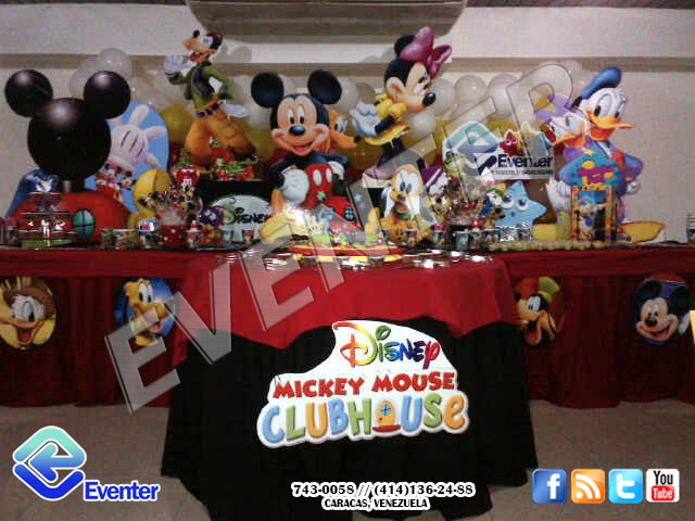 Decoraciones Para Mesas De Mickey Mouse