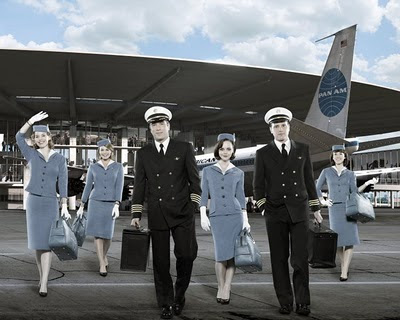 The cast of Pan Am