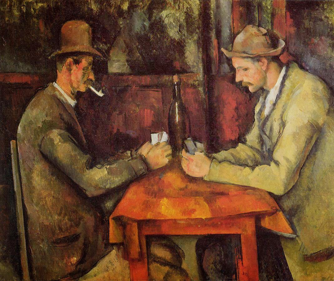 "Picture of ""Card Players"" by Paul Cezanne, 1894-1895"