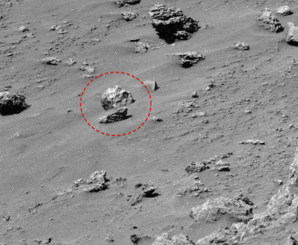ufo sightings daily: alien skull found on mars, rover just passes, Skeleton