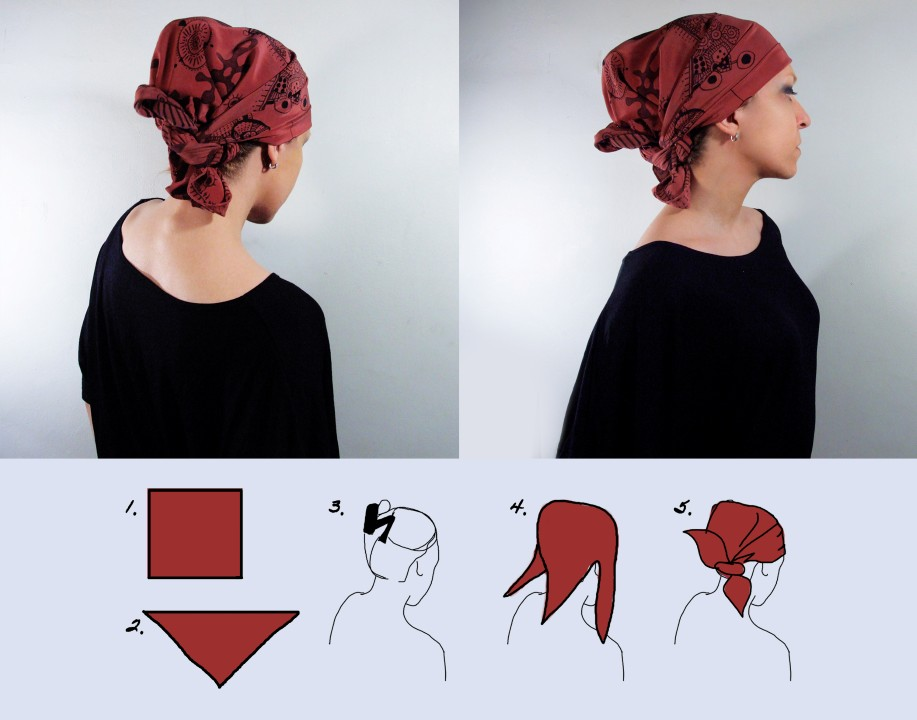 how to wrap a headscarf
