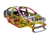 More than 60 percent of the vehicle safety cage consists of highstrength .