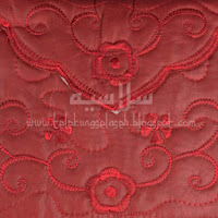 Telekung travel cotton silk maroon