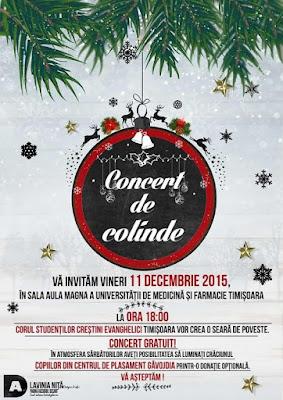 Concert de colinde la Universitatea de Medicina Timisoara - 11 decembrie 2015