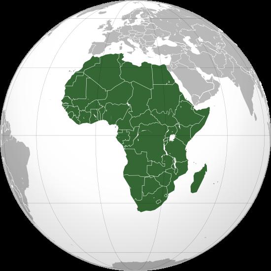 Globo Terráqueo África