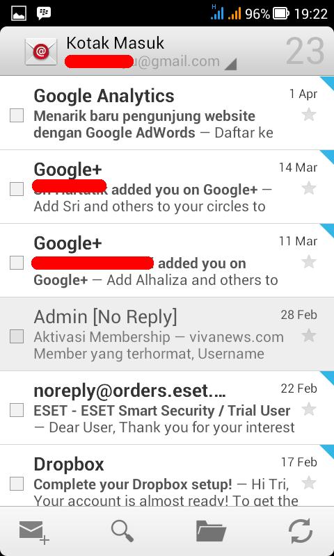 halaman kotak masuk email