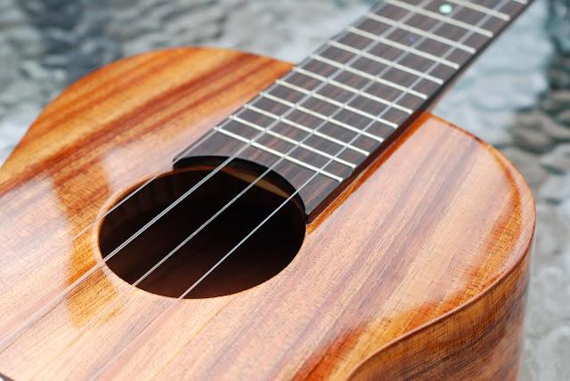 big island concert ukulele fingerboard