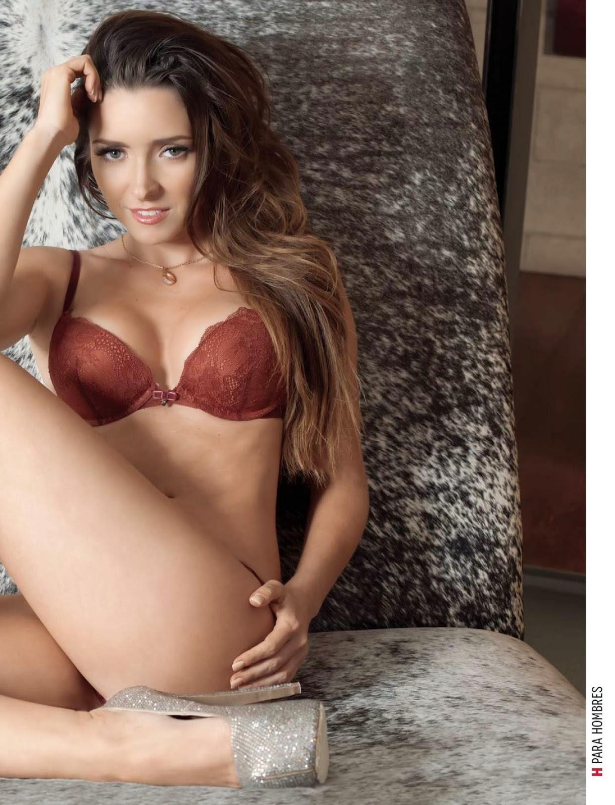 Ariadne Díaz Revista H para hombres México enero 2014