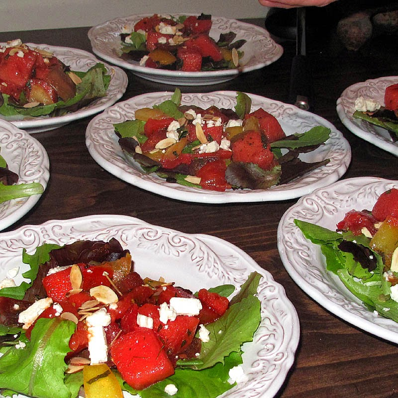 Savoring Time in the Kitchen: Tomato Watermelon Salad with ...
