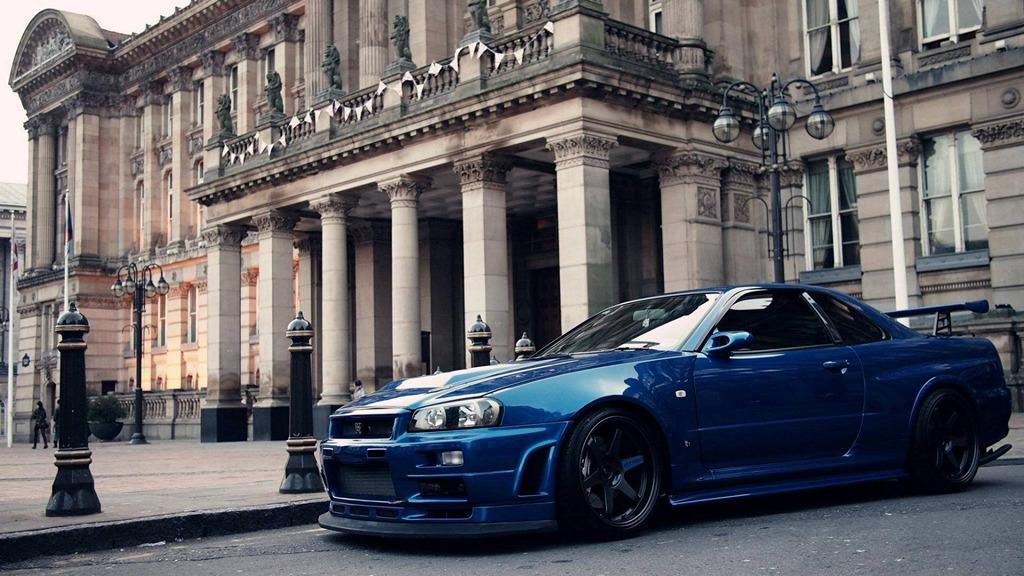 Nissan Skyline R34 GT-R, RB26DETT, ATTESA, napęd na cztery koła, AWD, twin turbo, technologia, HICAS, kultowy, legendarny, znany, ceniony, popularny, coupe, japoński sportowy samochód, 280 KM, tuning, zdjęcia, najlepszy