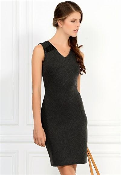 v yaka elbise, dar elbise, siyah elbise, kısa elbise, 2015 elbise modelleri