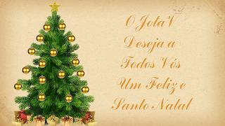 Feli Natal JV_Arvore de Natal com Estrela e prendas e bolinhas