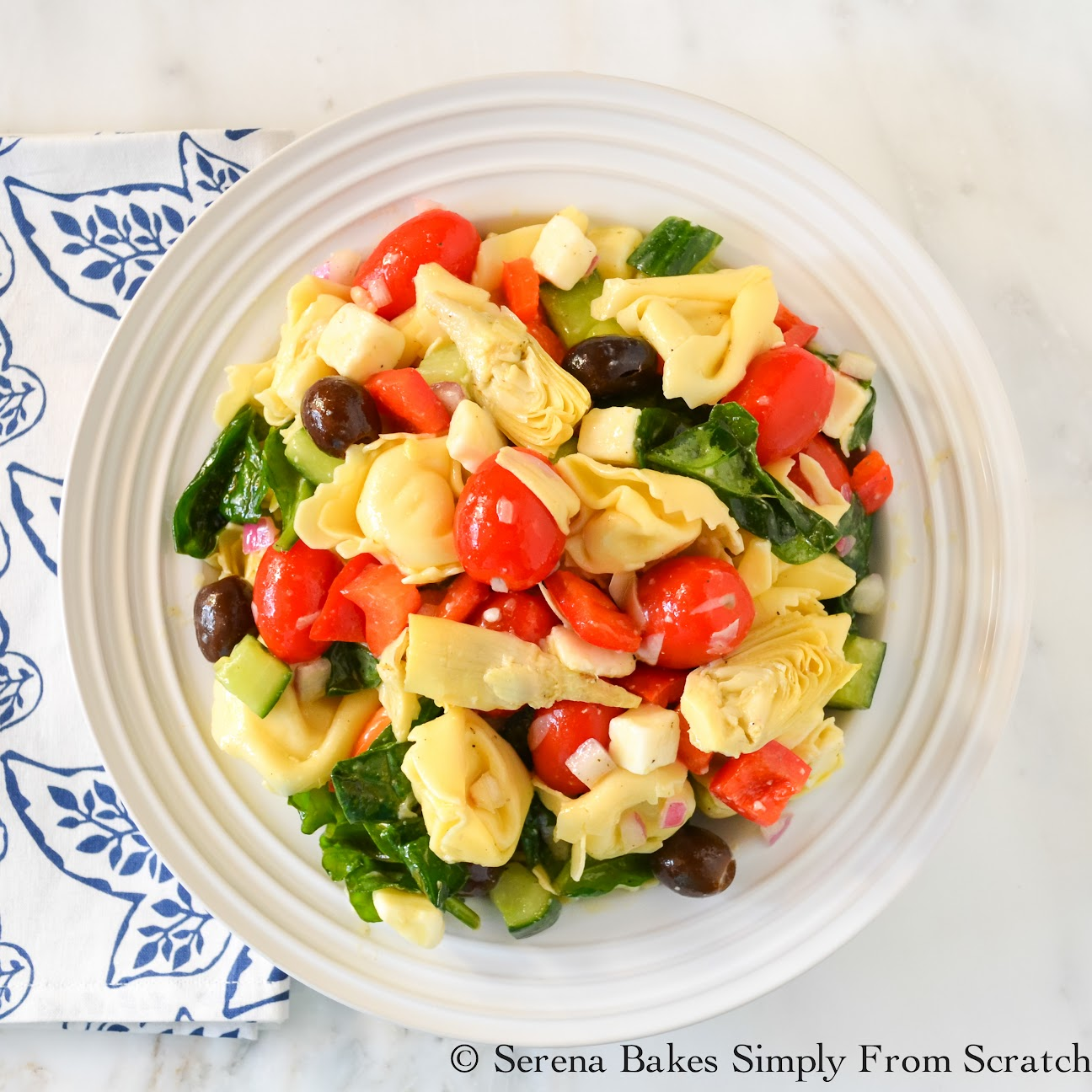 Italian Tortellini Pasta Salad | Serena Bakes Simply From Scratch