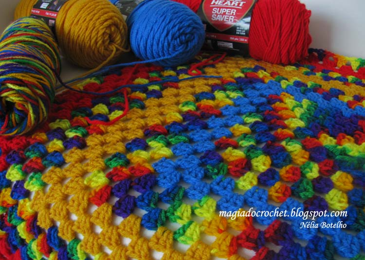 Magia do Crochet Crochet em Chicago manta para forrar o  : crochetcolorido3 from magiadocrochet.blogspot.pt size 750 x 535 jpeg 83kB