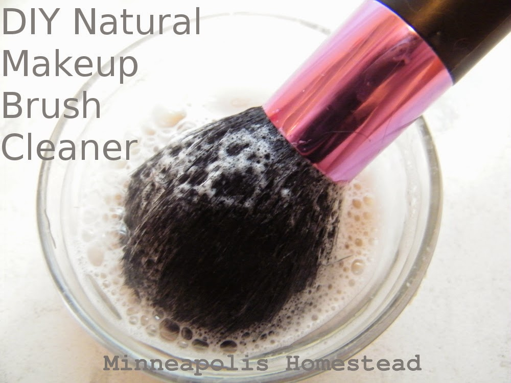 Cleaner Brush natural Makeup diy makeup Minneapolis cleaner Natural brush Homestead:  DIY