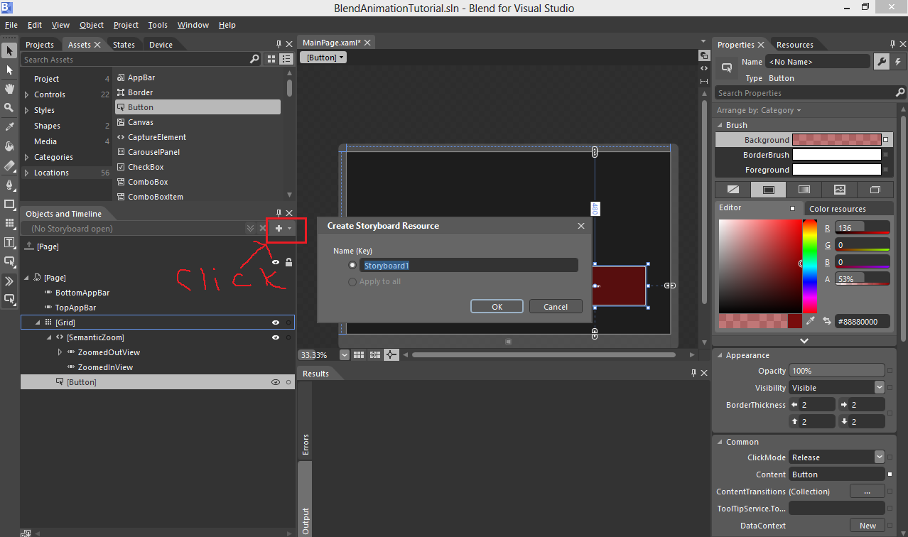 Blend for Visual Studio 2012 Tutorial - 2: Animating with Blend ...