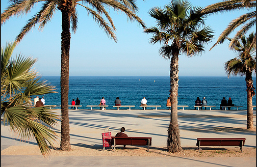 Beaches in Barcelona in Winter