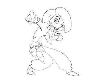 #9 Kim Possible Coloring Page