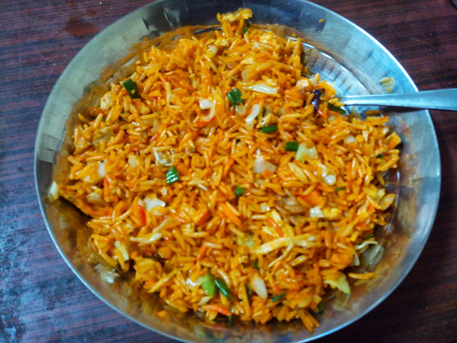 how to make indo-chinese chicken fried rice