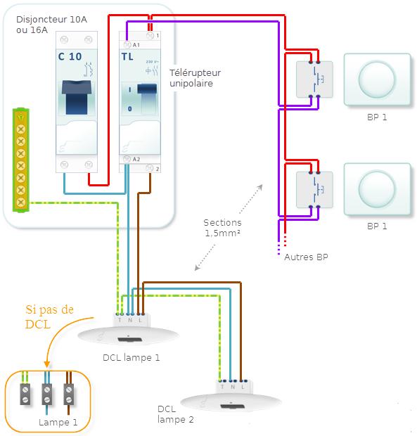 Comment brancher un telerupteur unipolaire schema electrique - Comment brancher un four ...