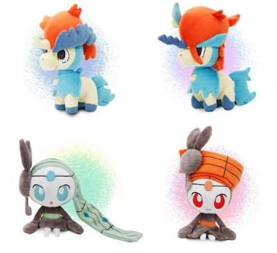 Pokemon Plush Pokedoll Keldeo Usual and Resolution Forme Meloetta Aria and Pirouette Forme