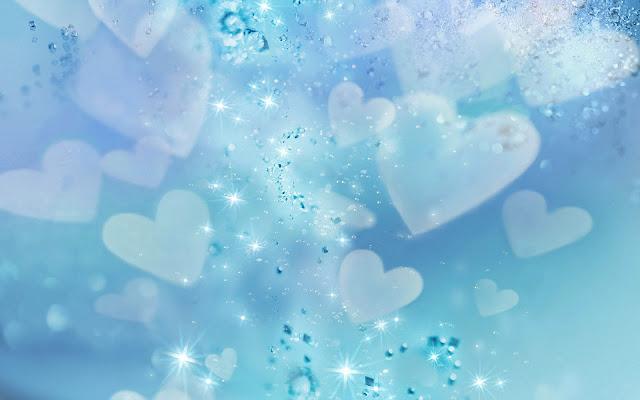 Witte liefdes hartjes
