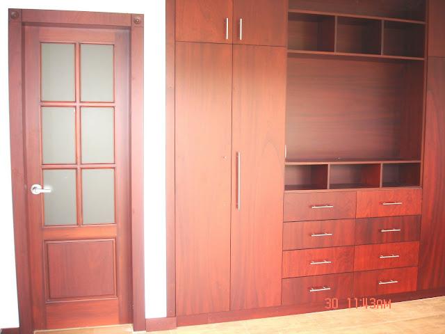 Ideatumobiliario dormitorios closets for Dormitorios madera modernos