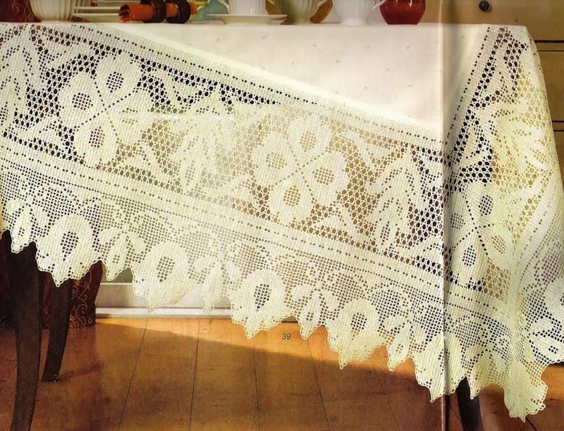 TRICO y CROCHET-madona-mía: Manteles de Crochet y Tela con patrones