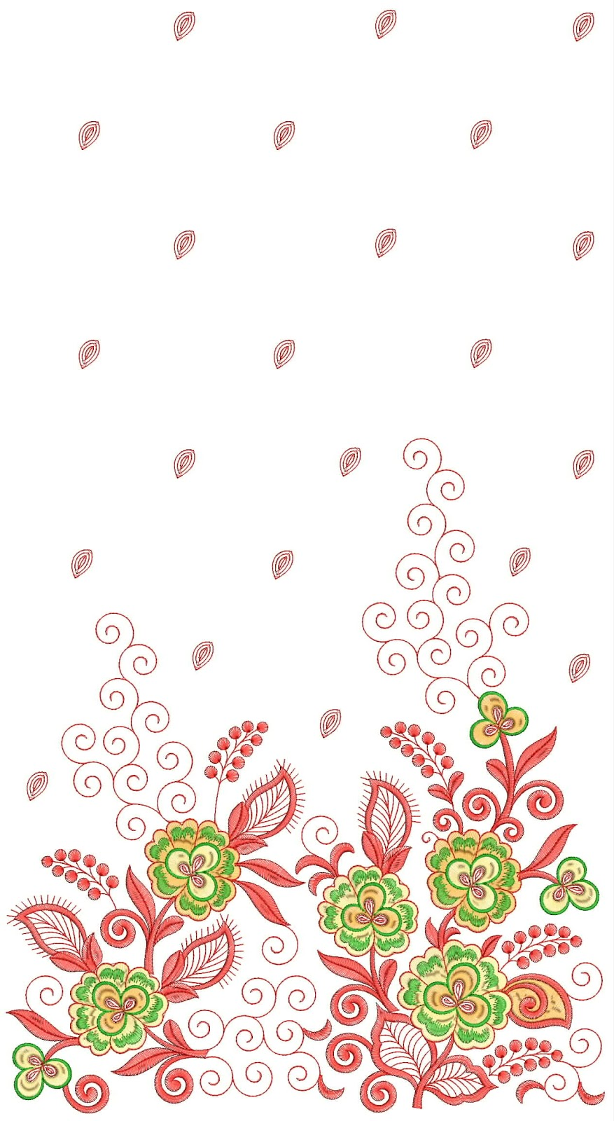 Embdesigntube 3mm Sequin Saree Embroidery Patterns