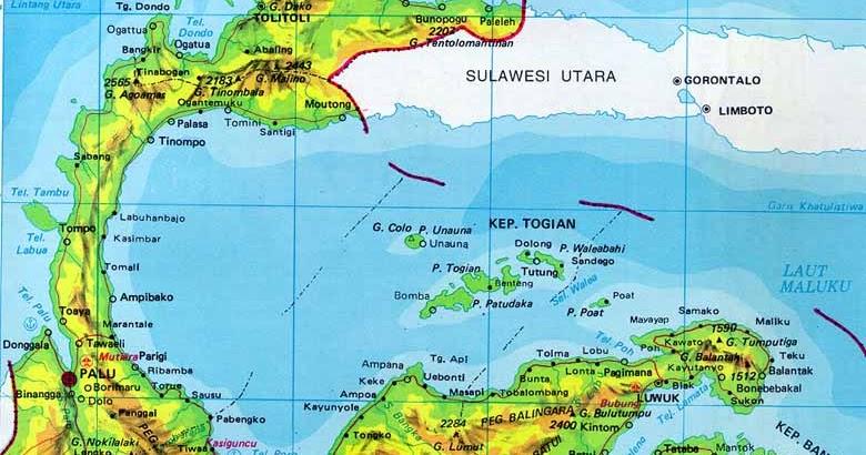 Daftar Kabupaten Kota Sulawesi Tengah Wwwgambar Peta