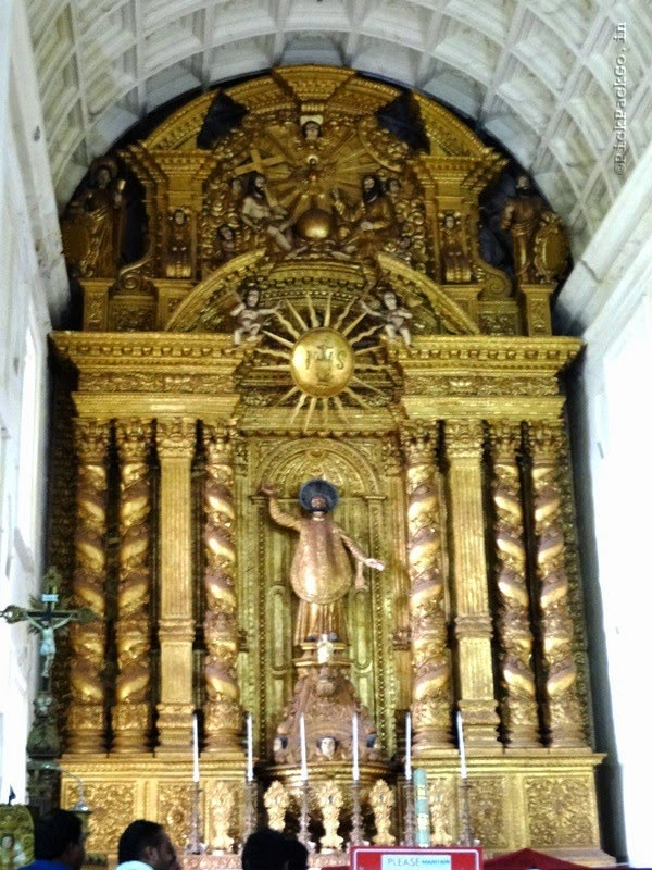 Altar of Basilica of Bom Jesus - UNESCO World heritage site - Goa India