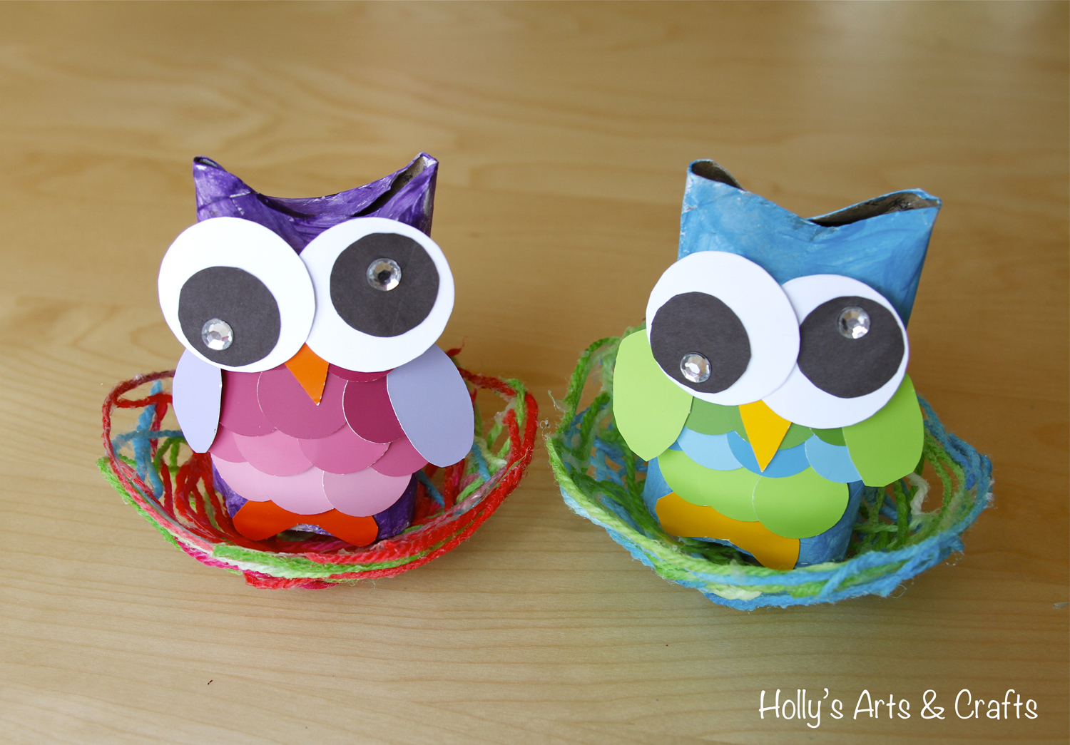 Holly 39 s arts and crafts corner 2012 mommy art camp for Toilet paper tube owls