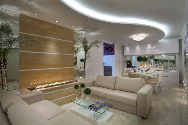 Construindo minha casa clean salas modernas de estar e for Interiores de salas modernas