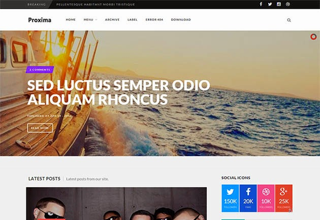 Proxima Responsive Blogger Template