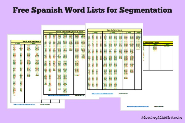 list of spanish words with articles