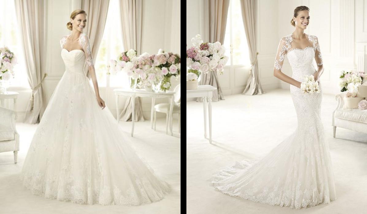 Corte princesa y sirena para un vestido de novia