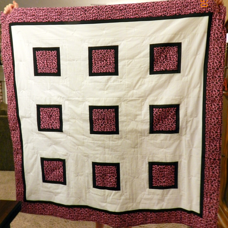 Traveling Quilter: Pink Animal Print Quilt